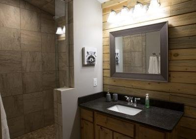 Elk Lodge bathroom vanity